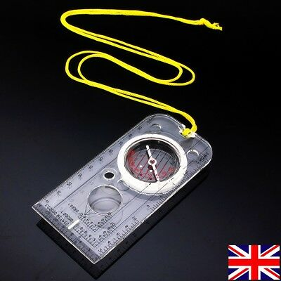 Magnifying Compass Map Army Scouts Orienteering Reading Camping Hiking Boating