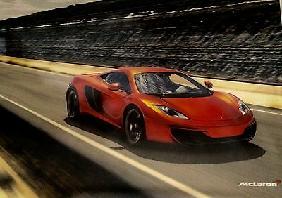 2013 Mclaren 12C 18X24 Poster Race Car Auto Double Sided Print RARE