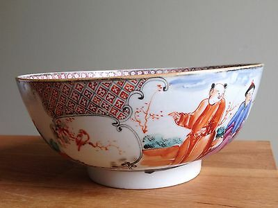 Antique 18th century Chinese famille rose porcelain bowl