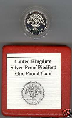 Boxed 1987 Piedfort Proof £1 English Oak Tree