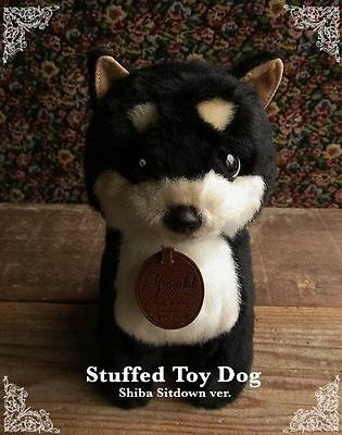 Kawaii Cute Shiba Inu dog plush toy Stuffed DOG Black Tan & White sitdown ver.