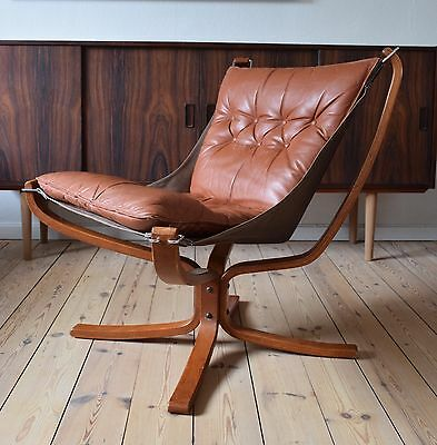 Sigurd Ressell Cognac Low Back Falcon Chair