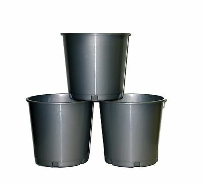 3 - Silver Offering Buckets Mfg USA Lead Free, Plastic Buckets are Recyclable.
