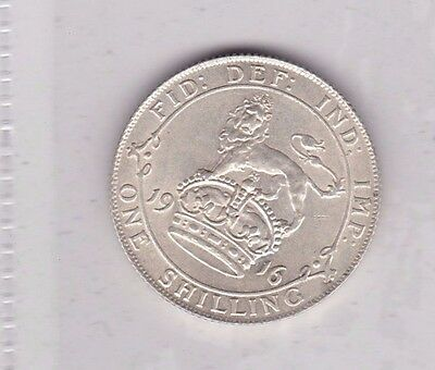 1916 George V Silver Shilling In Extremely Fine Condition