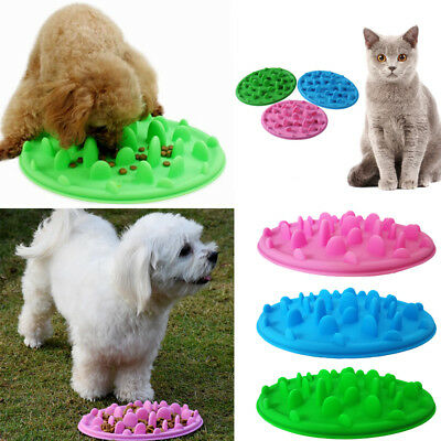 Gamelle Bol Mangeoire Anti Glouton Silicone Pr Chien Chat Animal Lent Nourriture