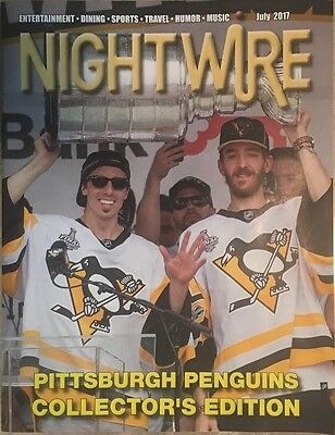 Fleury Matt Murray Cup PITTSBURGH Penguins July 2017 NightWire Magazine Unsigned