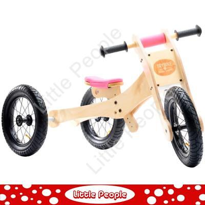 New Wooden Trybike with Pink Trim