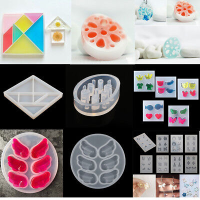 Silicone Earring Pendant Mold Making Jewelry Ornament Resin Casting Mould Craft