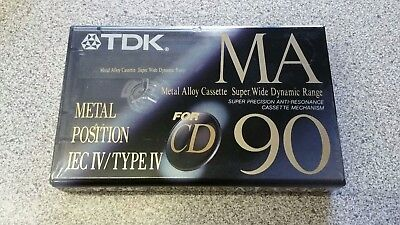 TDK MA 90 Metal Alloy Cassette - New and Sealed, Rare, Type IV, 11 Available