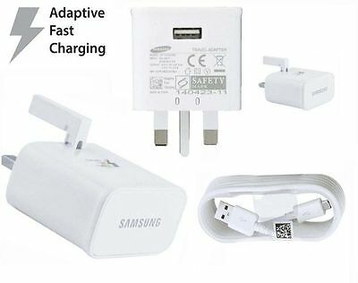 Original Samsung Galaxy S6 S6 S7 Edge Plus Adaptive Fast Charger & Cables