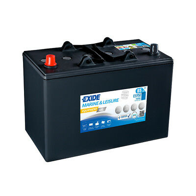 Batterie camping car EXIDE equipement GEL ES950 12v 85ah  349X175X235MM