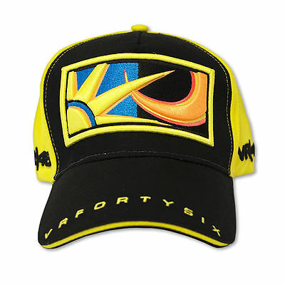 Valentino Rossi 46 The Doctor MotoGP Yellow Paddock Cap Baseball Hat VR46