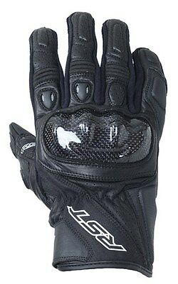 RST STUNT 3 BLACK CE Motorbike Leather Short Sports 2123 Gloves cheap