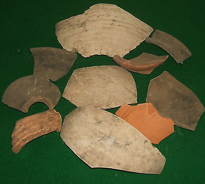 roman pottery Bowl fragments various forms