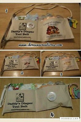 Daddy Diaper Toolbelt Personalized Free Ship Your choice of belt