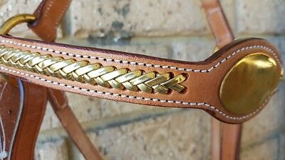 Ri2 Chesnut gold bridle  nameplate barcoo campdraft stockhorse full rodeo polo