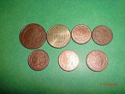- Germany - 7  New Euro Coins –10,5 & 1X5 Euro Cents - 2002-2004 # 7Bc2