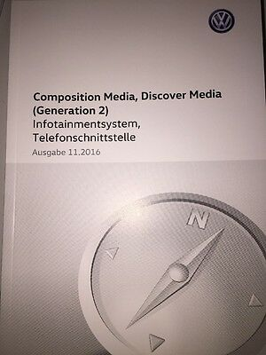 VW COMPOSITION / DISCOVER MEDIA 2017 Infotainment Telefon Betriebsanleitung RN