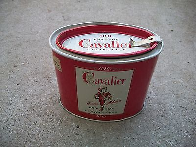 Antique Vintage Very Nice Condition Cavalier Cigarrette 100 Tin Idaho can.