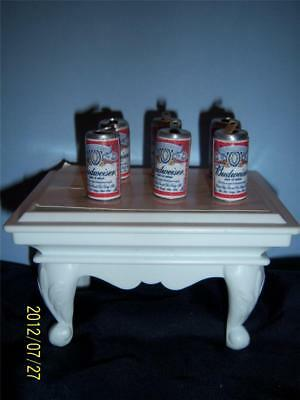 Beer Can Charms 6 Mini (Budweiser) Beer Can Charms / Doll House Cans