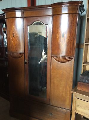 Antique Mahogany Bow Fronted wardrobe