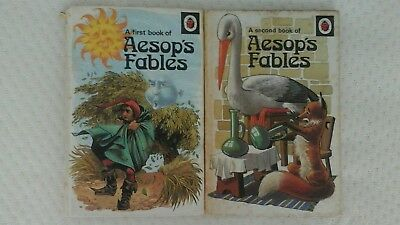 Aesops Fables 1st & 2nd ladybird books 1974