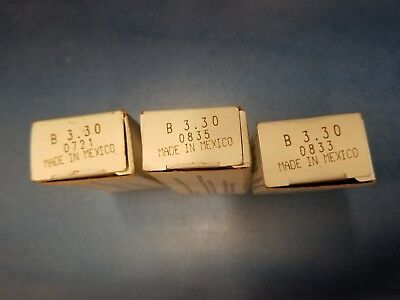 Lot of 3 New Square D B3.30 Heater Element