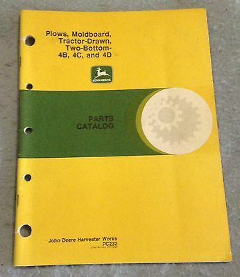 John Deere 4B 4C and 4D two bottom tractor drawn plows parts catalog PC232