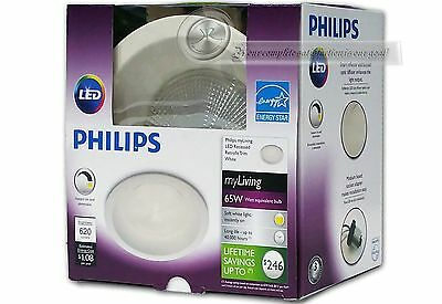 4 Pack / Philips LED 65W Soft White 6 in. Retrofit Trim Recessed Dimmable 2700K