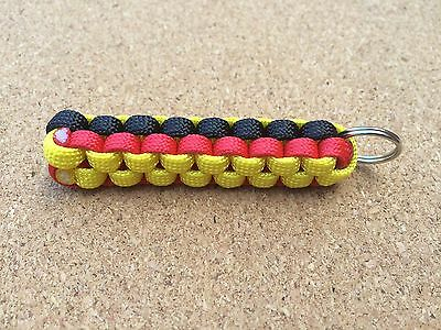 Watford Paracord Keyring Yellow Black & Red