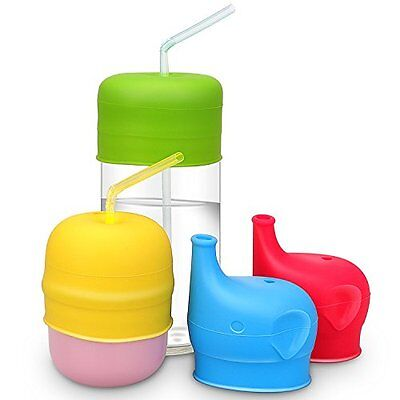 Silicone Sippy Cup Lids,Mami & Babi, Leak Proof for Babies Toddlers and Kids.