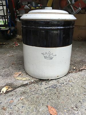 antique 4 gallon pickling crock