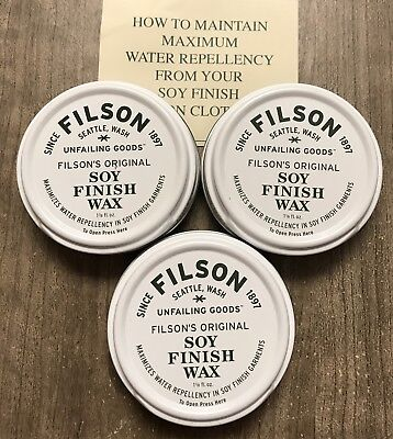 Filson Soy Finish Wax (3-Pack) New Made In Usa