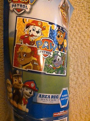 "Easy Care Paw Patrol Area Rug 39 x 54""  New Kids"