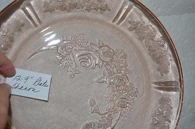 Federal Glass SHARON, CABBAGE ROSE DINNER PLATE #1= SALE -READ FULL DESCRIPTION!
