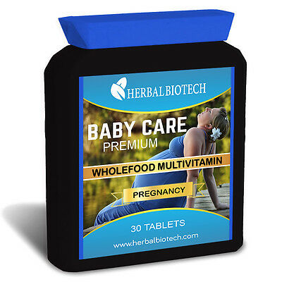 BabyCare Wholefood Based Prenatal Multi Vitamins One A Day Tablets Pregnancy