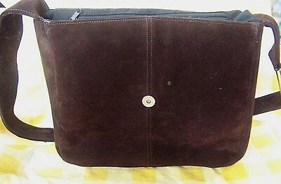 Vintage Suede Leather Bag Perfect BOHO Rendezvous Reenactment Accessory