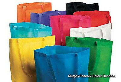 Lot of 5 Colorful Polyester Large Tote Bags Beach, Shopping, School, Shopping