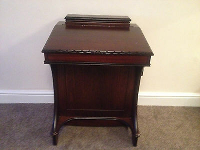 Mahogany Reproduction Davenport Writing Desk with Drawers