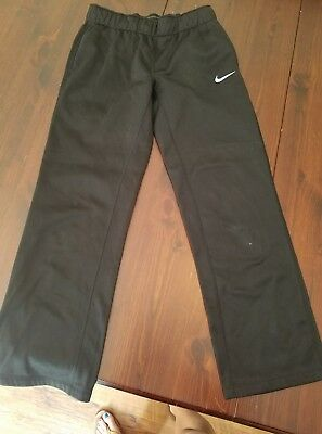 Nike Dri Fit Youth L Athletic Black Fleece SweatPants Sports Training