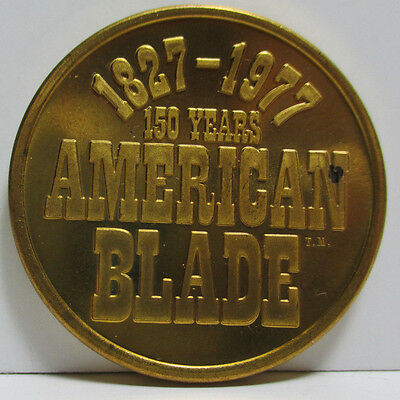 VINTAGE - American Blade 150 YEARS Token Coin 1827-1977 Medal Knife Company