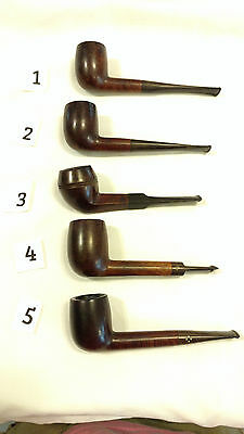 Vintage Tobacco Pipe Lot Dunhill (3) Peterson Sasieni Estate Pipes