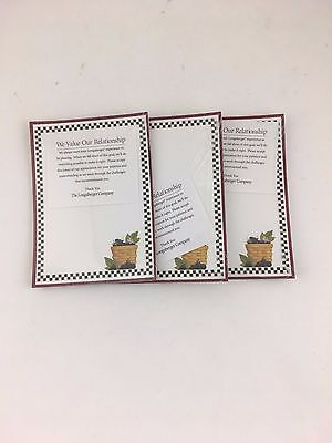 Longaberger Note Pads Set of 3 NIP