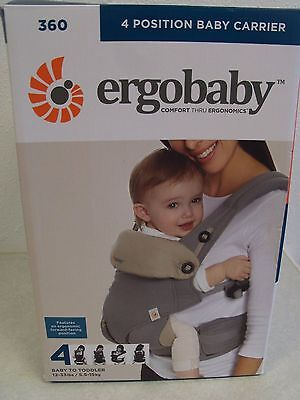 Ergobaby 4 Position Baby Carrier Gray/Taupe NIB Baby to Toddler 12-33 lbs