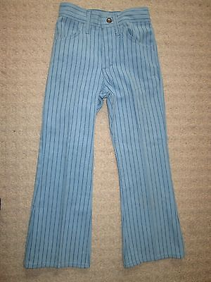 Vintage BIG E Levis STA-PREST Pin Stripe Jeans Extremely RARE Child Size NICE