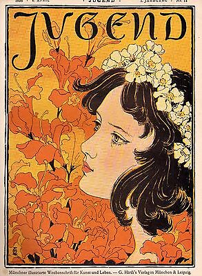 JUGEND magazine Issue 14 Year One 1896 German Art Nouveau Jugendstil Eckmann