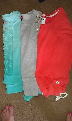 lot of 3 sweatshirts hollister-american eagle-say what size sm/xsm BTS!