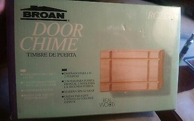 Broan door chime /Door Bell *new in box* wood cover* RC210N