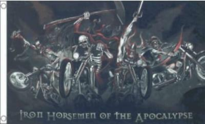 IRON HORSEMEN OF THE APOCALYPSE FLAG 5ft X 3ft
