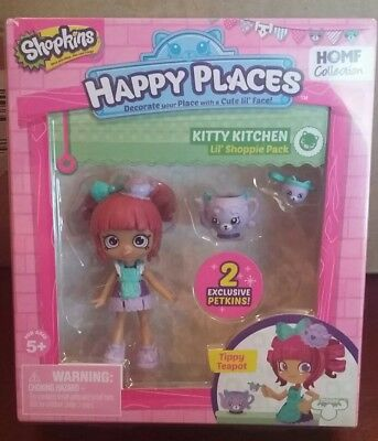 Shopkins Happy Places Lil Shoppie Tippy Teapot kitty kitchen strainer petkins